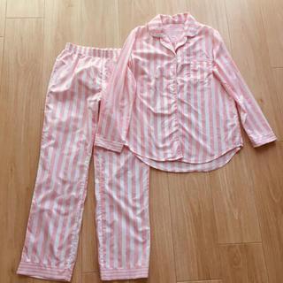 GU - GU ストライプ柄パジャマ ルームウェア ピンク 上下セット