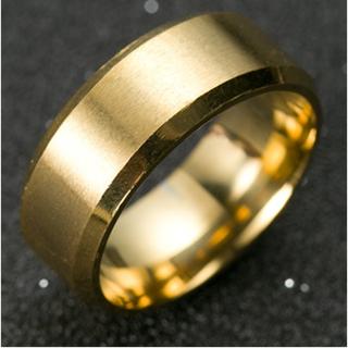 チタンブラックリング (ゴールド)(リング(指輪))