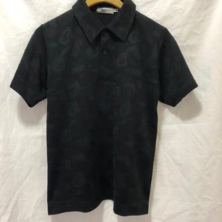 アベイシングエイプ(A BATHING APE)のsizeS美品カモフラージュ 黒 ポロシャツ A bathing ape(ポロシャツ)