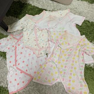 西松屋 - 新生児肌着 ミッフィー コンビ肌着 50〜60 女の子