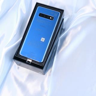 ギャラクシー(Galaxy)の【SIMロック解除済】au Galaxy S10 Prism Blue(携帯電話本体)