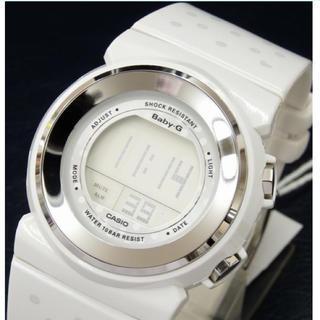 ベビージー(Baby-G)のBaby-G❤︎BGD-105 ラウンドフェイスホワイト×シルバーランニングに♡(腕時計)
