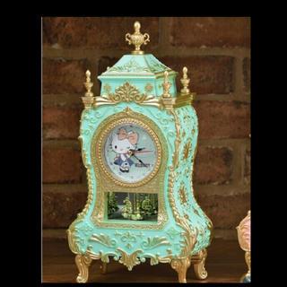 ハローキティ(ハローキティ)のハローキティ プレミアムゴージャス スイングクロック 時計 置時計(置時計)