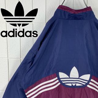 アディダス(adidas)のアディダス バックロゴ 旧タグ ゆるだぼ 90s ショート丈 ナイロン 海外製(ナイロンジャケット)