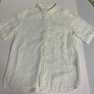 ジーユー(GU)の白シャツ 花柄(シャツ/ブラウス(半袖/袖なし))