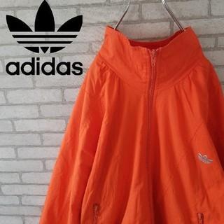 アディダス(adidas)のレア 90S アディダス ポリジャケット 刺繍ワンポイント 古着女子 (ナイロンジャケット)