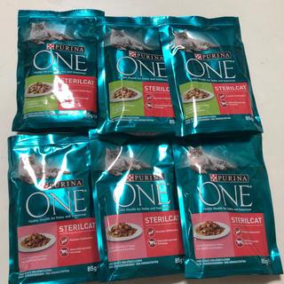 ネスレ(Nestle)の☆ピュリナワン 猫 ウエットフードパウチ 85g☆ターキー3袋+サーモン3袋☆(ペットフード)
