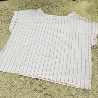 ジーユー(GU)のストライプ トップス(Tシャツ(長袖/七分))