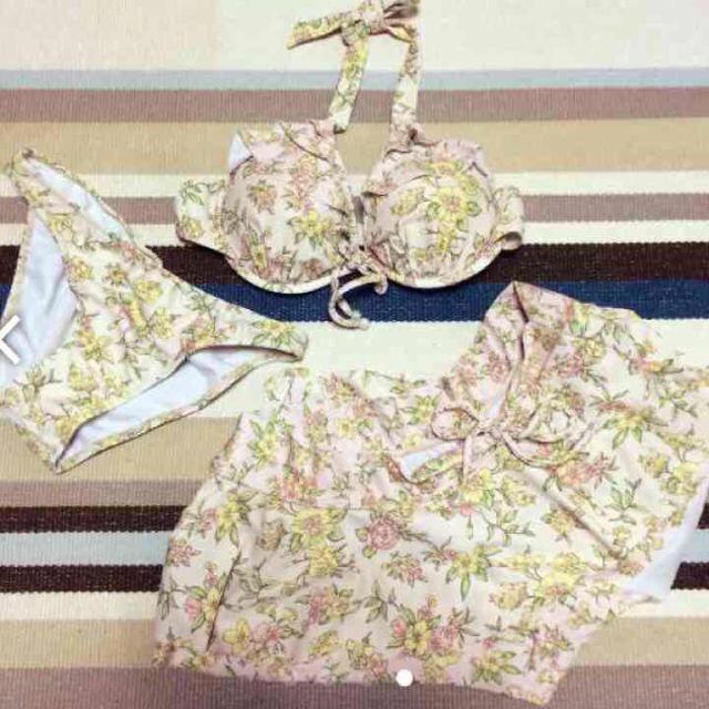 花柄 ピンク ビキニ ♡ レディースの水着/浴衣(水着)の商品写真