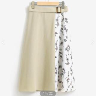 マジェスティックレゴン(MAJESTIC LEGON)のマジェスティックレゴン 花柄切り替えスカート(ひざ丈スカート)