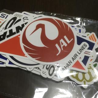 ジャル(ニホンコウクウ)(JAL(日本航空))の航空会社 ステッカー セット 54枚 JAL ANA(航空機)