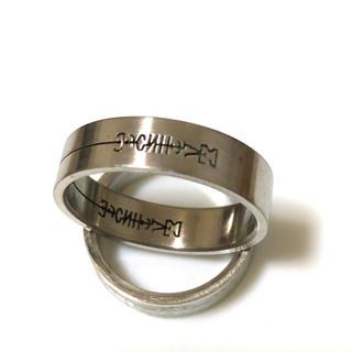 同時購入で300円 ステンレス指輪シンボルマーク(リング(指輪))