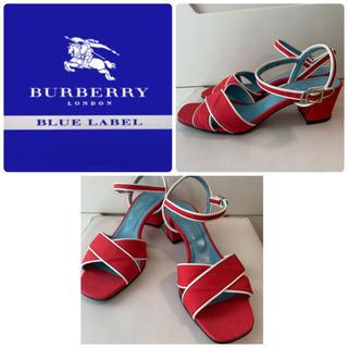 バーバリーブルーレーベル(BURBERRY BLUE LABEL)のバーバリーブルーレーベル レッドキャンバス  サンダル(サンダル)