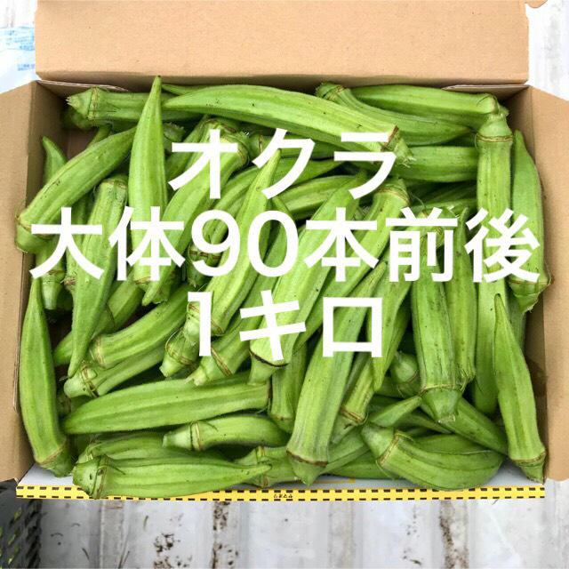 鹿児島産オクラ1キロ 食品/飲料/酒の食品(野菜)の商品写真