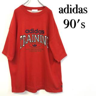 アディダス(adidas)の美品  90's adidas ロゴTシャツ(Tシャツ/カットソー(半袖/袖なし))