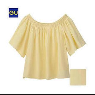 ジーユー(GU)のGU ジーユー  オフショルダー ♡ イエロー(カットソー(半袖/袖なし))