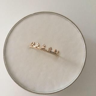 クミキョク(kumikyoku(組曲))の【お値下げ♡】組曲 クラウン ダイヤモンド 指輪 13号 K10(リング(指輪))
