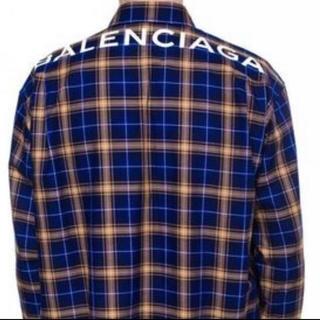 バレンシアガ(Balenciaga)の美品 BALENCIAGA ロゴ シャツ 41(シャツ)