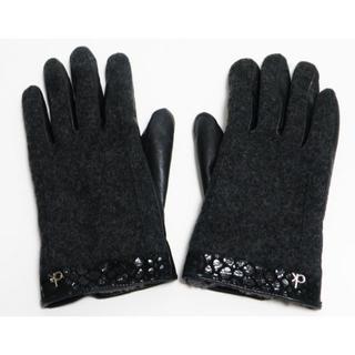 カルバンクライン(Calvin Klein)の美品カルバン・クライン 手袋 グローブ Lサイズ 黒 レディース用(手袋)