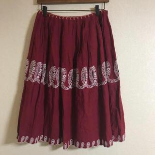 ミナペルホネン(mina perhonen)のミナペルホネン  ribbon スカート 未使用(ひざ丈スカート)