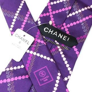 シャネル(CHANEL)の未使用 CHANEL シャネル ネクタイ 剣幅約9.8㎝ f020(ネクタイ)