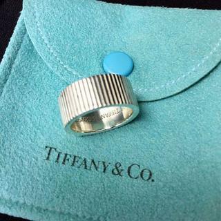 ティファニー(Tiffany & Co.)のティファニー ストライプデザイン リング 指輪 SV925 9号(リング(指輪))