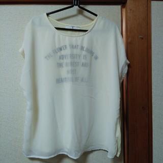 シマムラ(しまむら)の新品・4Lイエローカットソー(カットソー(半袖/袖なし))