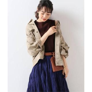 ノーブル(Noble)の【美品】オーバーサイズミリタリーシャツジャケット(ミリタリージャケット)