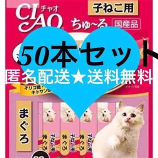 いなばペットフード - ※子猫 こねこ用 まぐろ味 50本 猫のおやつ いなば チャオちゅーる ちゅ〜る