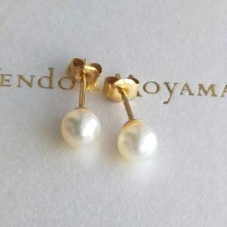 【K18】◆照りの良いパール(真珠)ピアス(ピアス)