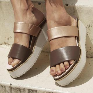 アリシアスタン(ALEXIA STAM)のDouble Strap Sandals Light Pink(サンダル)