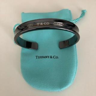 Tiffany & Co. - 超美品 ティファニー 1837 ブラックチタン バングル ブレスレット メンズ