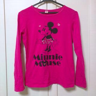 ユニクロ(UNIQLO)の《美品》UT ディズニー ミニー ロンティー ロンT ミニーマウス 濃いピンク (Tシャツ(長袖/七分))
