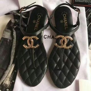 CHANEL - Chanelシャネル レディース サンダル ビーチサンダル ビーサン 黒