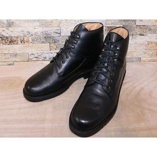 コールハーン(Cole Haan)の超美品 コールハーン プレーントゥアンクルブーツ 黒 27cm(ドレス/ビジネス)
