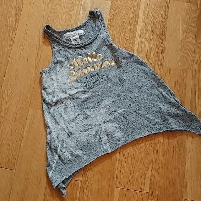 H&H(エイチアンドエイチ)のH&Mグレーのタンクトップ キッズ/ベビー/マタニティのキッズ服 女の子用(90cm~)(Tシャツ/カットソー)の商品写真