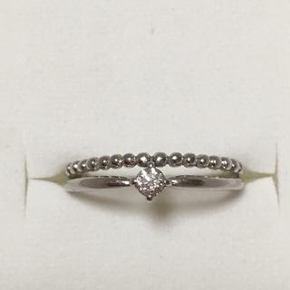 K18ホワイトゴールドダイヤモンドリング (リング(指輪))