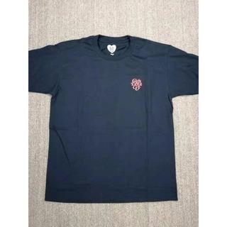 ルイヴィトン(LOUIS VUITTON)の男女兼用:黒色 コットンTシャツ ピンク文字(Tシャツ/カットソー(半袖/袖なし))