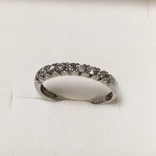 K14ホワイトゴールドダイヤモンドリング(リング(指輪))