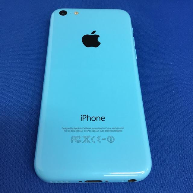 iPhone(アイフォーン)のiPhone 5C ブルー16GB au スマホ/家電/カメラのスマートフォン/携帯電話(スマートフォン本体)の商品写真