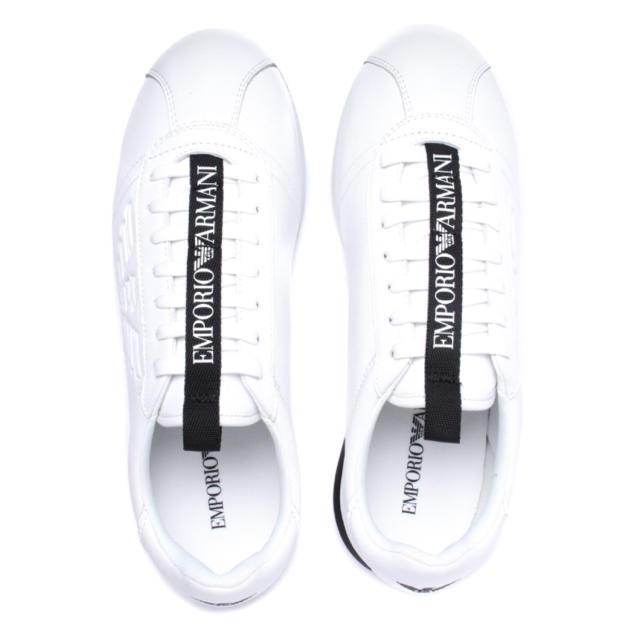 Emporio Armani(エンポリオアルマーニ)のEMPORIO ARMANI CORTEZ WHITE LOGO LACE メンズの靴/シューズ(スニーカー)の商品写真