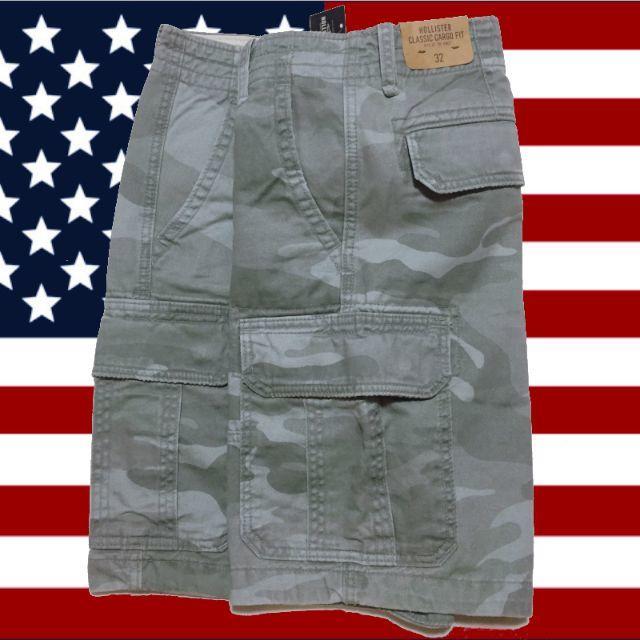Hollister(ホリスター)の【新品】 HOLLISTER ホリスター 迷彩 カーゴ ショーツ メンズ メンズのパンツ(ショートパンツ)の商品写真