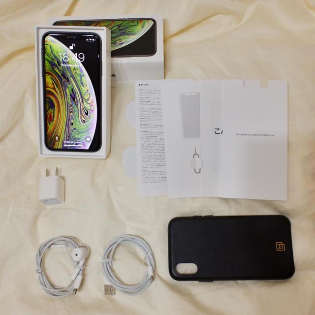 iPhone(アイフォーン)のiPhone XS 64GB SIMフリー スペースグレー スマホ/家電/カメラのスマートフォン/携帯電話(スマートフォン本体)の商品写真
