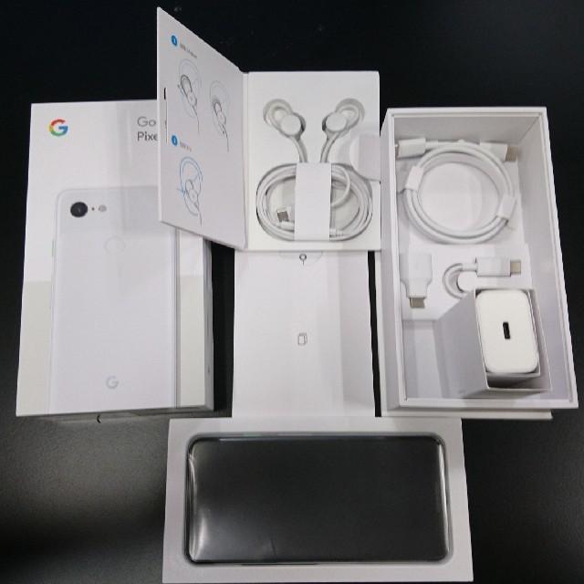【送料込】Google Pixel 3 G013B SIMフリー ホワイト 白 スマホ/家電/カメラのスマートフォン/携帯電話(スマートフォン本体)の商品写真