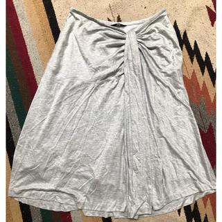 イネド(INED)のINED グレー スカート 9号(ひざ丈スカート)