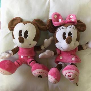 ミッキーマウス(ミッキーマウス)のミッキー&ミニーのぬいぐるみセット(キャラクターグッズ)