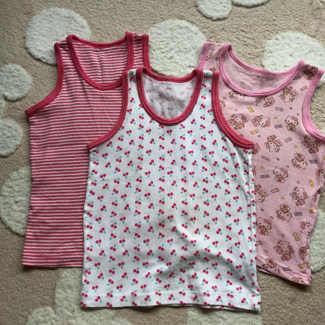 しまむら(シマムラ)の女の子 肌着 タンクトップ 95 キッズ/ベビー/マタニティのキッズ服 女の子用(90cm~)(下着)の商品写真