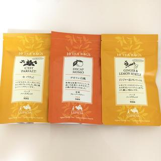 LUPICIA - ルピシア紅茶 10 ティーバッグ 3個セット デカフェ 白桃
