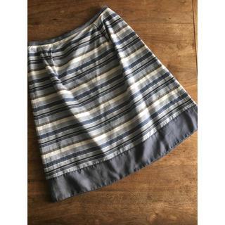 ジェイプレスレディス(J.PRESS LADIES)のJ.PRESS ジェイプレス 台形ボーダースカート 11号(ひざ丈スカート)