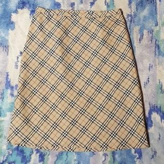 バーバリー(BURBERRY)のヴィンテージ Burberry ノバチェック スカート バーバリー ビンテージ(ひざ丈スカート)